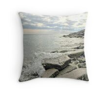Lake Ontario shoreline, Bluffer's Park Throw Pillow