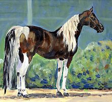 American Saddlebred Horse Portrait by Oldetimemercan