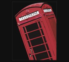 Red British Phone box by Phillip Shannon
