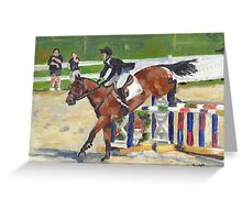 Showjumping Horse Show Portrait Greeting Card
