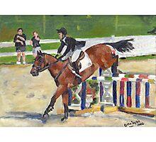 Showjumping Horse Show Portrait Photographic Print