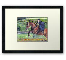 Sidesaddle Horse Show Portrait Framed Print