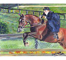 Sidesaddle Horse Show Portrait Photographic Print