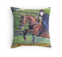 Sidesaddle Horse Show Portrait Throw Pillow