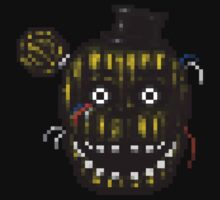 Five Nights at Freddy's 3 - Pixel art - Phantom Freddy One Piece - Short Sleeve