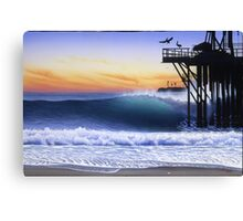 Oil piers Canvas Print
