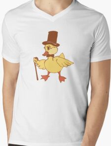 Mr. important Duckling Mens V-Neck T-Shirt