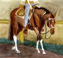 Beginning Lessons Paint Western Pleasure Horse Portrait by Oldetimemercan