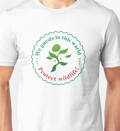 """Emblem """"Protect wildlife!"""" Unisex T-Shirt"""