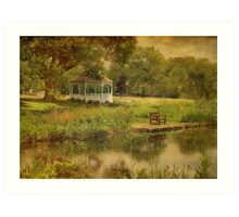 A Summer's Day In Princeton Art Print