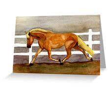 Haflinger Horse Portrait Greeting Card