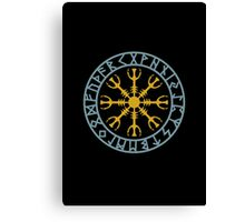 Helm of awe, Aegishjalmur, Runic Amulet Canvas Print