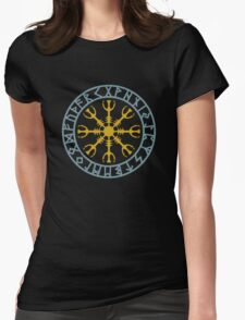 Helm of awe, Aegishjalmur, Runic Amulet Womens Fitted T-Shirt