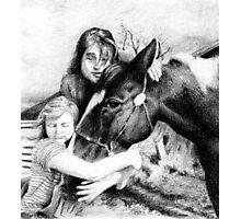 Black Tie Girls Paint Horse Portrait Photographic Print