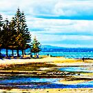 Altona Beach with The Dandenongs in the Distance by Helen Chierego
