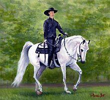 Arabian Horse Western Pleasure Portrait by Oldetimemercan