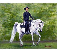 Arabian Horse Western Pleasure Portrait Photographic Print