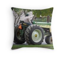 Cool Old Tractor Keeps Truckin' Throw Pillow