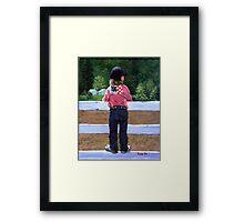 Horse Show Child Portrait Framed Print