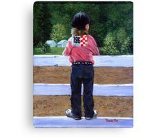 Horse Show Child Portrait Canvas Print