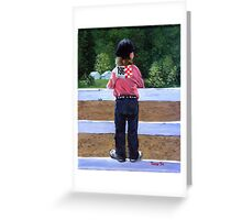 Horse Show Child Portrait Greeting Card