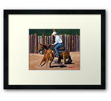Cutting Horse Quarter Horse Portrait Framed Print