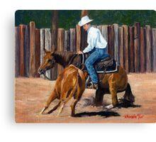 Cutting Horse Quarter Horse Portrait Canvas Print
