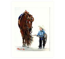 Western Pleasure Quarter Horse Portrait Art Print