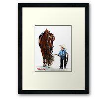 Western Pleasure Quarter Horse Portrait Framed Print