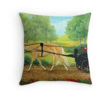 Palomino Pleasure Driving Quarter Horse Portrait Throw Pillow