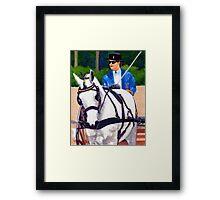 Quarter Horse Pleasure Driving Horse Portrait Framed Print
