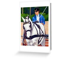 Quarter Horse Pleasure Driving Horse Portrait Greeting Card
