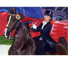 Pride and Joy American Saddlebred Horse Portrait Photographic Print