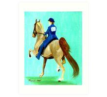 Equitation American Saddlebred Horse Portrait Art Print