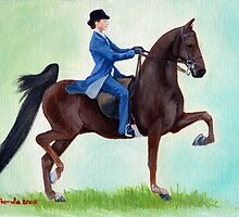 Exhuberation American Saddlebred Horse Portrait by Oldetimemercan