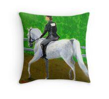 Hunter Pleasure American Saddlebred Horse Portrait Throw Pillow