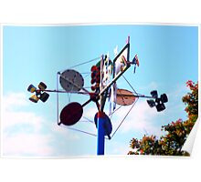 Whirlygig Wind Art  Poster