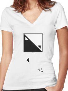 Juzang Logo on White Women's Fitted V-Neck T-Shirt