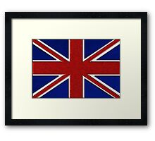 British Flag Union Jack Framed Print