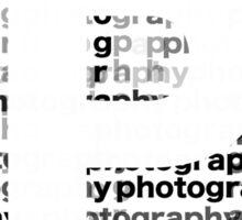 Photography text_06 Sticker
