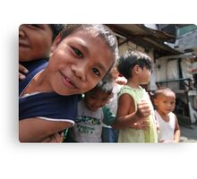 children of the philippines: smiles, strength and poverty Canvas Print