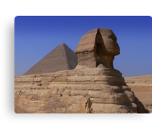 Pyramid and Sphynx Canvas Print