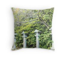 Lanterns In Line Throw Pillow
