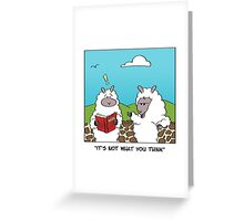 WOOL Sheep Greeting Card