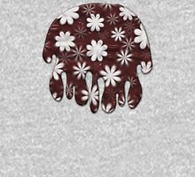 Melted Chocolate and Milk Flowers Pattern T-Shirt