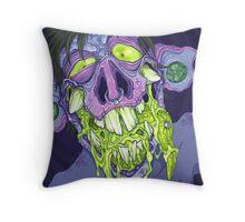 Barf Monster Throw Pillow