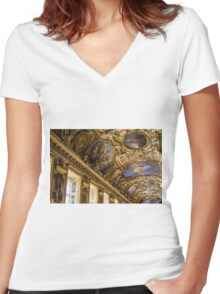 Apollo Gallery Louvre Women's Fitted V-Neck T-Shirt