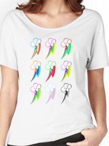 Rainbow dash Pop Art  Women's Relaxed Fit T-Shirt