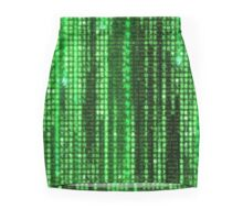Digital Rain Mini Skirt