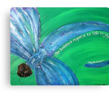 Dragonfly Quotes Canvas Print
